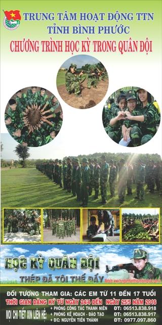 Thông báo chiêu sinh chương trình Học kỳ trong quân đội năm 2016
